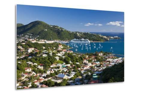 Elevated View over Charlotte Amalie-Gavin Hellier-Metal Print