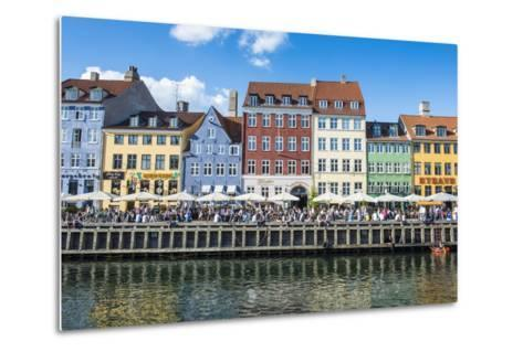 Nyhavn, 17th Century Waterfront, Copenhagen, Denmark, Scandinavia, Europe-Michael Runkel-Metal Print