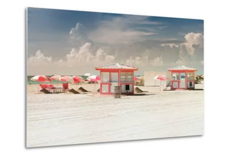 Pink Beach Houses - Miami Beach - Florida-Philippe Hugonnard-Metal Print