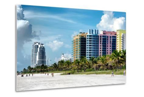 Colorful Architecture - Miami Beach - Florida-Philippe Hugonnard-Metal Print