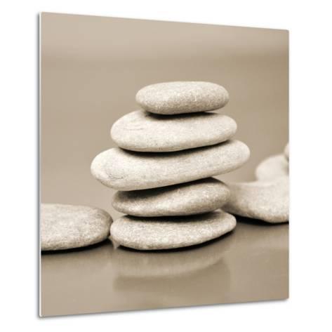 Zen Pebbles--Metal Print