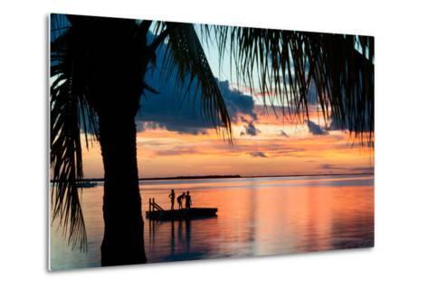 Sunset Landscape with Floating Platform - Florida-Philippe Hugonnard-Metal Print