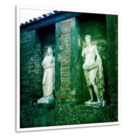 Roman Statues in the Ruins of Pompeii, Italy-Skip Brown-Metal Print