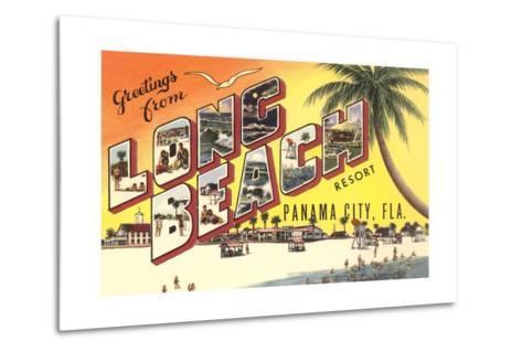 Greetings from Long Beach Resort, Panama City, Florida--Metal Print