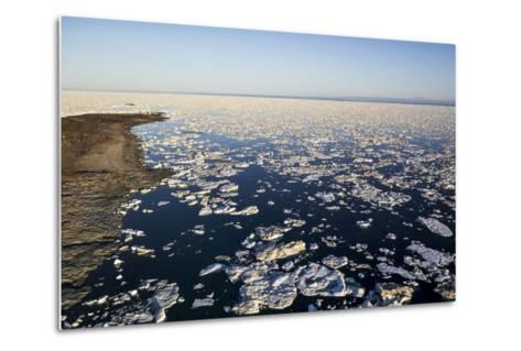 Sea Ice, Hudson Bay, Nunavut, Canada-Paul Souders-Metal Print
