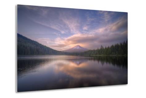 Cloudscape Reflection at Trillium Lake, Oregon-Vincent James-Metal Print