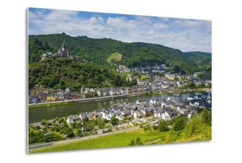 View over Cochem with its Castle, Moselle Valley, Rhineland-Palatinate, Germany, Europe-Michael Runkel-Metal Print