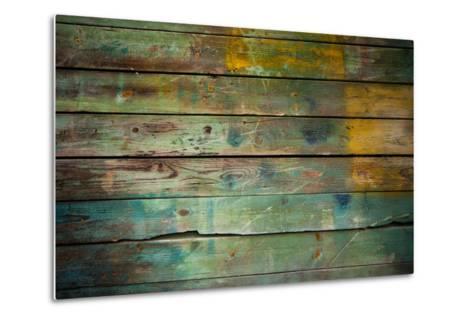Wood Grungy Background-Arcady31-Metal Print