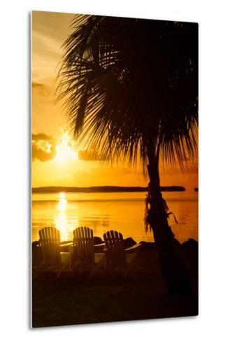 Three Chairs at Sunset - Florida-Philippe Hugonnard-Metal Print