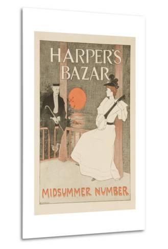 Harper's Bazar Midsummer Number Poster--Metal Print