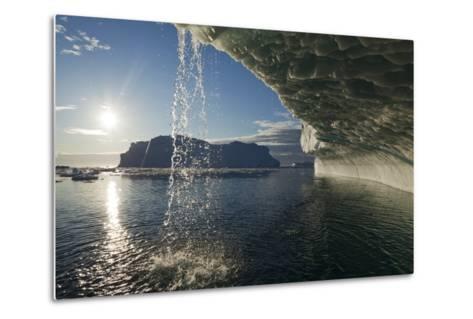 Melting Icebergs in Disko Bay--Metal Print