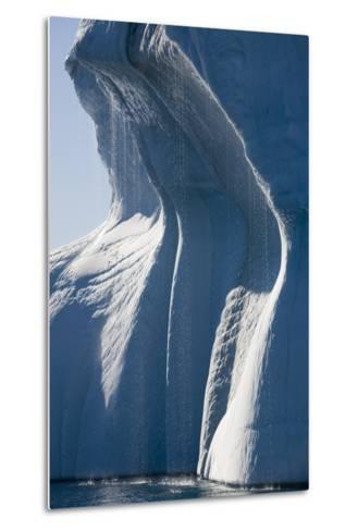 Melting Icebergs in Ililussat--Metal Print