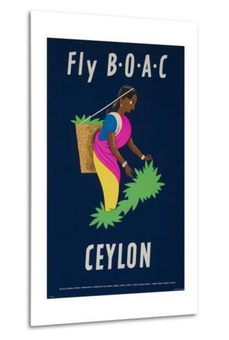 Fly Boac Ceylon Travel Poster--Metal Print