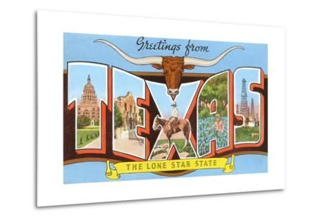 Greetings from Texas, the Lone Star State--Metal Print