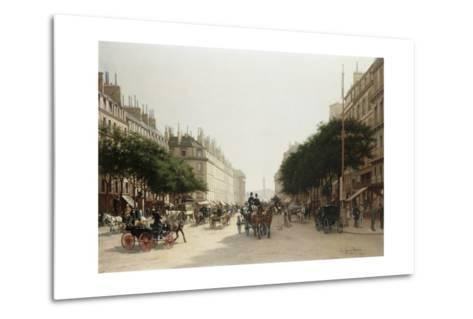 La Rue Royale, Paris, France-Edmond-Georges Grandjean-Metal Print