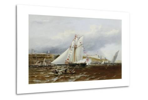 A Regatta at Plymouth, England-Henry A. Luscombe-Metal Print
