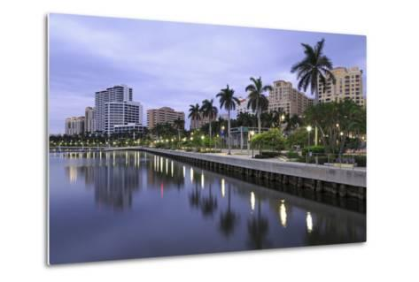 Skyline of West Palm Beach, Florida, United States of America, North America-Richard Cummins-Metal Print