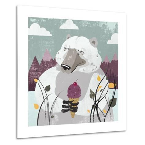 Polar Bear-Anna Polanski-Metal Print