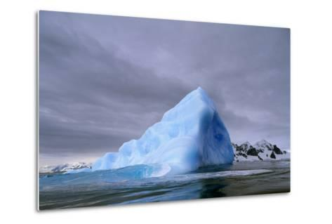 Iceberg at Entrance to Lemaire Channel in Antarctica--Metal Print