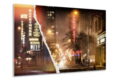 Dual Torn Posters Series - New York-Philippe Hugonnard-Metal Print
