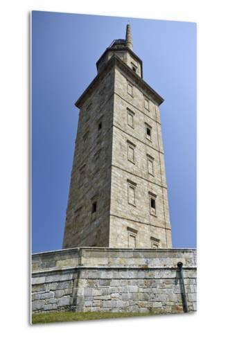 Hercules Tower, Oldest Roman Lighthouse in Use Todaya Coruna, Galicia, Spain, Europe-Matt Frost-Metal Print