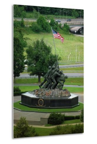 Iwo Jima Memorial in Washington Dc on Flag Day--Metal Print