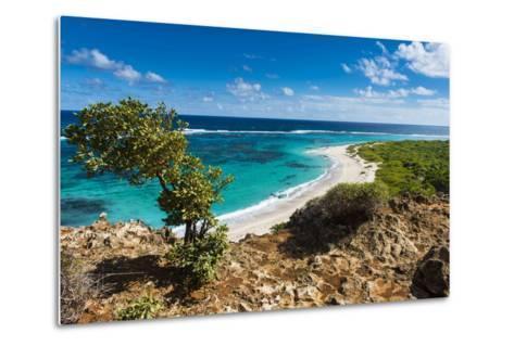 View over the Turquoise Waters of Barbuda-Michael Runkel-Metal Print