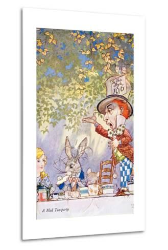 A Mad Teaparty-Charles Folkard-Metal Print