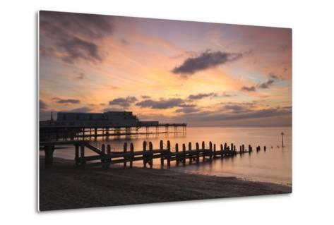 Aberystwyth Pier, Ceredigion, West Wales, United Kingdom, Europe-Billy Stock-Metal Print