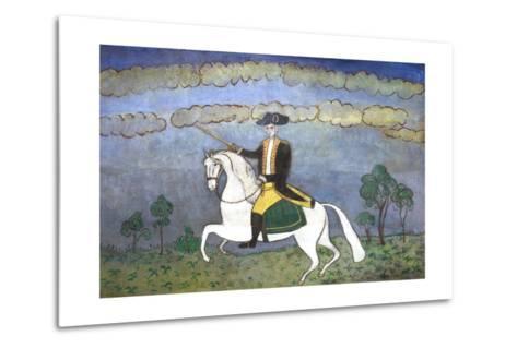 George Washington on Horseback--Metal Print