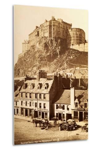 View of Edinburgh Castle from the Grassmarket--Metal Print