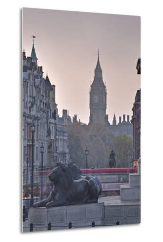 Trafalgar Square and Big Ben at Dawn, London, England, United Kingdom, Europe-Julian Elliott-Metal Print