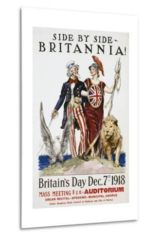 Side by Side - Britannia! Poster-James Montgomery Flagg-Metal Print