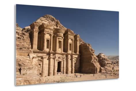 The Monastery, or Al Deir, in Petra-Michael Melford-Metal Print
