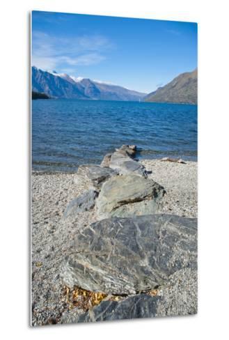 Lake Wakatipu at Queenstown, Otago, South Island, New Zealand, Pacific-Matthew Williams-Ellis-Metal Print