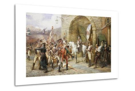 An Incident in the Peninsular War-Robert Alexander Hillingford-Metal Print