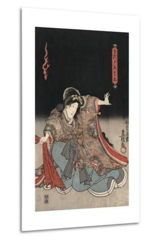 An Actor in the Role of Narutonomae-Utagawa Kunisada-Metal Print
