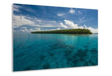 Little Islet in the Ant Atoll, Pohnpei, Micronesia, Pacific-Michael Runkel-Metal Print