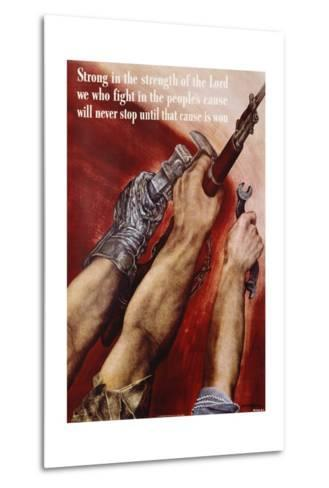 Strong in the Strength of the Lord Poster-David Stone Martin-Metal Print