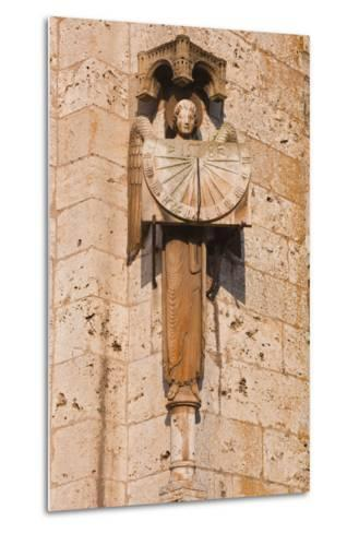 An Old Sundial on Chartres Cathedral-Julian Elliott-Metal Print