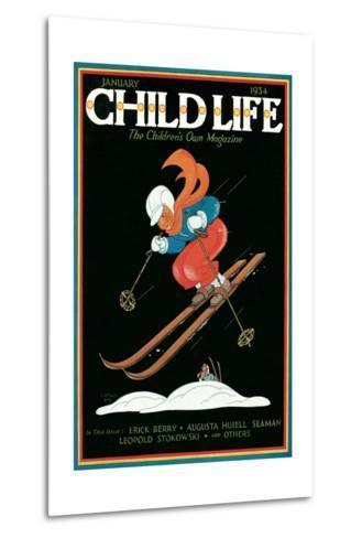 Magazine Cover, Child Life--Metal Print
