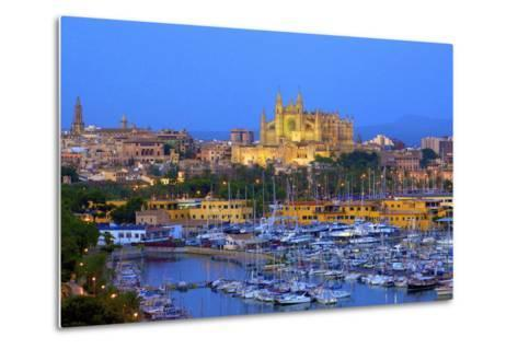 Cathedral and Harbour, Palma, Mallorca, Spain, Europe-Neil Farrin-Metal Print