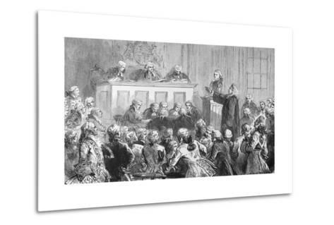 Illustration of the Trial of Peter Zenger in New York--Metal Print
