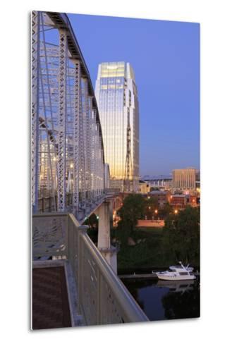 Pinnacle Tower and Shelby Pedestrian Bridge-Richard Cummins-Metal Print