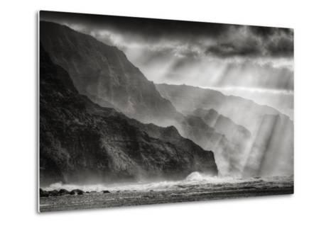 Sacred Light and Mist at Na Pali Coast, Kauai Hawaii-Vincent James-Metal Print