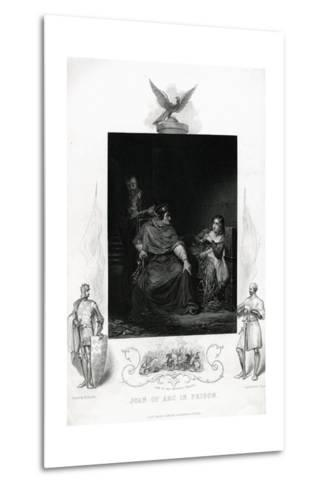 Joan of Arc in Prison Engraving from Shakespeare's Henry VI, Part I, Act V--Metal Print