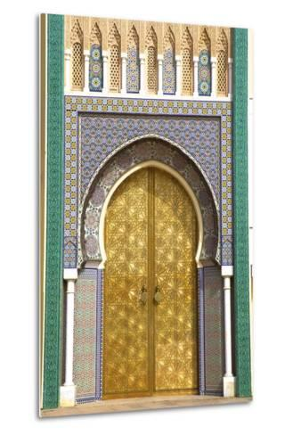 Royal Palace, Fez, Morocco, North Africa-Neil Farrin-Metal Print