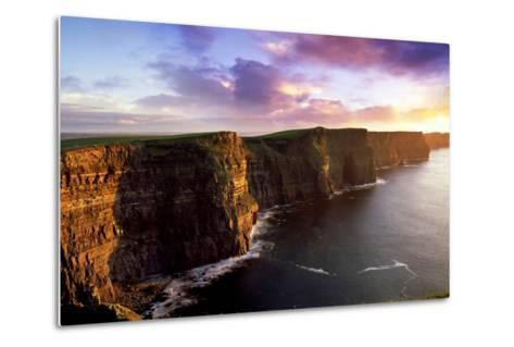Sunset on the Cliffs of Moher, County Clare, Ireland-Chris Hill-Metal Print