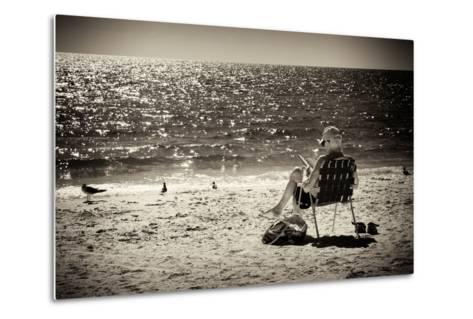 Solidary Reading by the Sea - Florida-Philippe Hugonnard-Metal Print