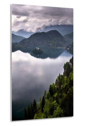 View of Lake Bled from Lake Bled Castle-Matthew Williams-Ellis-Metal Print
